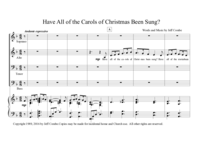 Have All of the Carols of Christmas Been Sung?