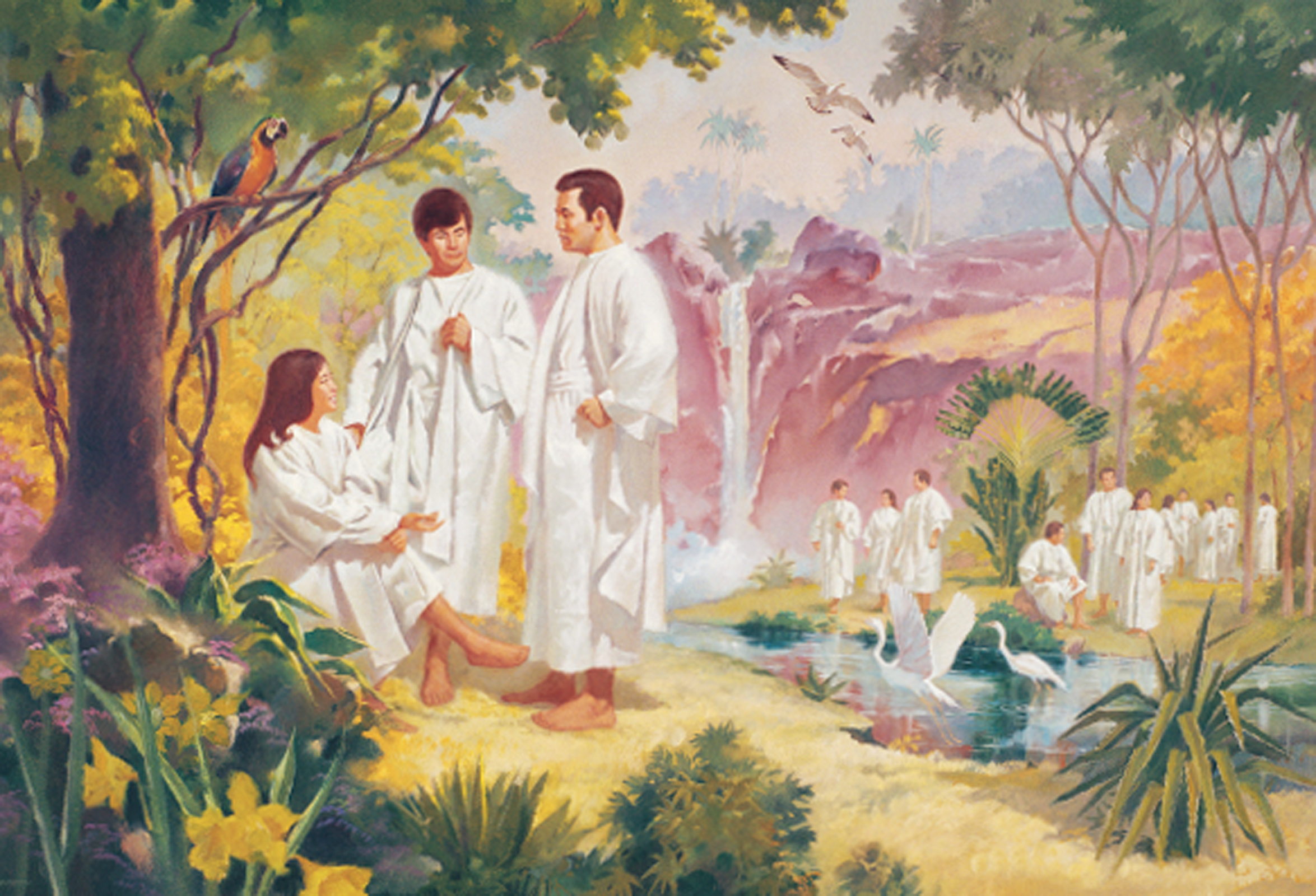 Pre-existence-people-white-robes-153673-wallpaper
