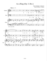 """As a Ring (Op.5, Rev.)"""